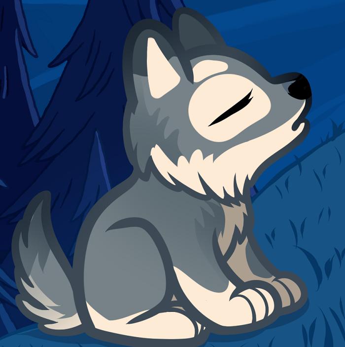 Как нарисовать волченка урок 1