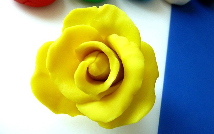 Лепим цветы из пластилина, фото 6