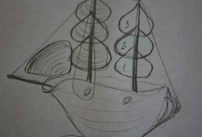 Как сделать кораблик из ракушек своими руками-2