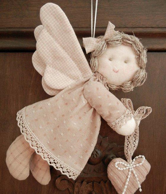 Рождественский ангел из ткани своими руками