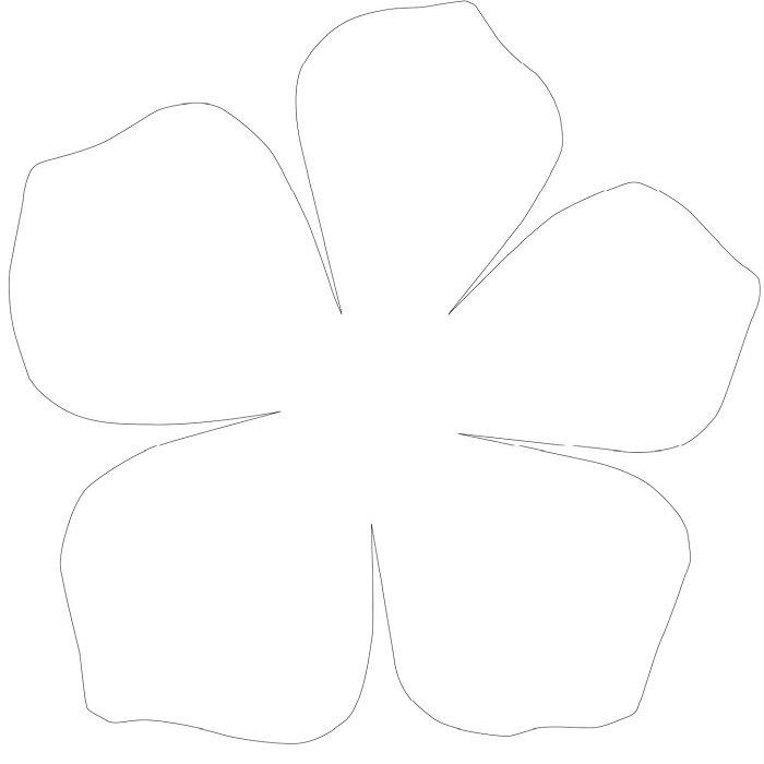 Аплікація з паперу квіти - шаблон 1