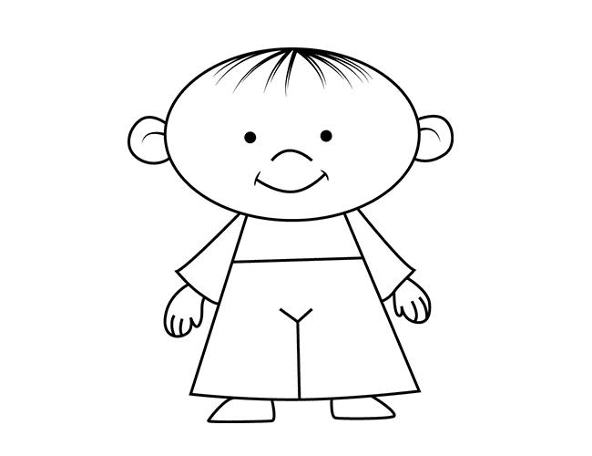 Як намалювати дітей - руки і ноги, схема 6