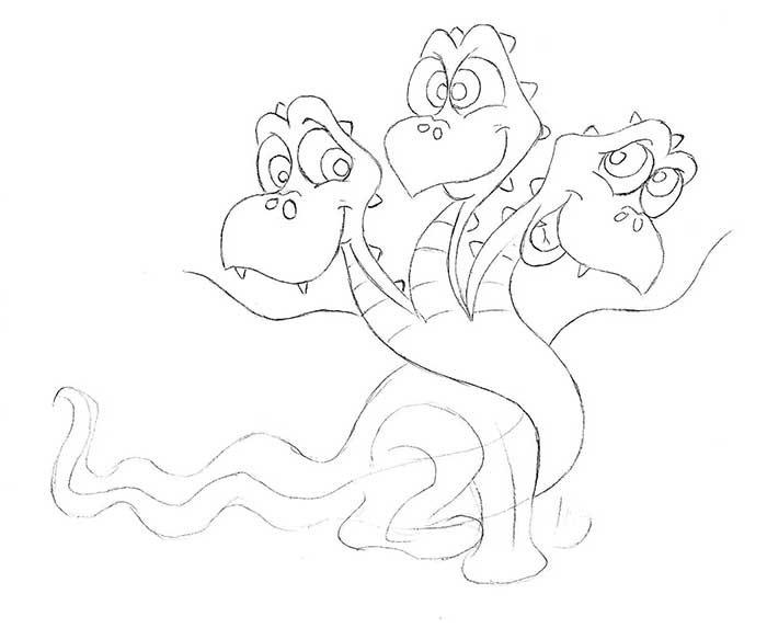 Как рисовать драконов шаг за шагом, схема 1 - этап 5