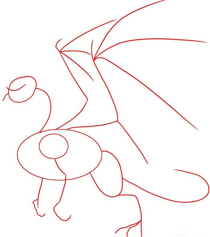 Як намалювати дракона, схема 6 - фото 1