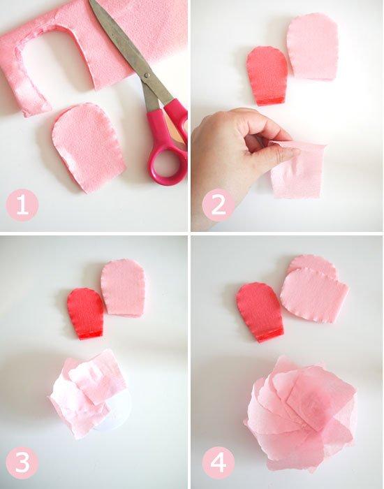 Сделать цветы из бумаги своими руками - инструкция 2