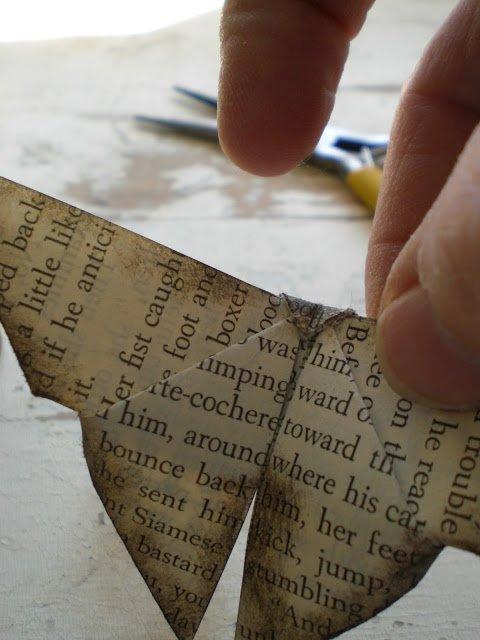 Орігамі метелик крок 16
