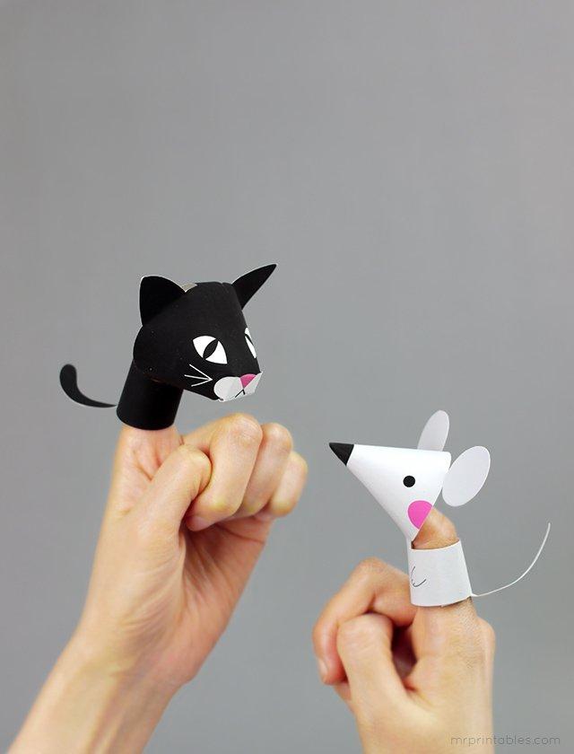 Как сделать пальчиковый театр из бумаги, фото 9