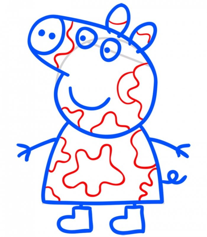Як намалювати свинку Пеппу