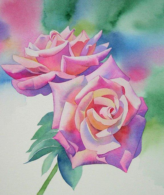 Как нарисовать розу шаг за шагом – схема, фото 21