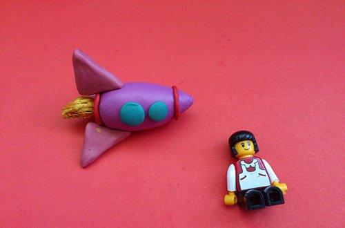 Ракета из пластилина - мастер-класс, фото 7