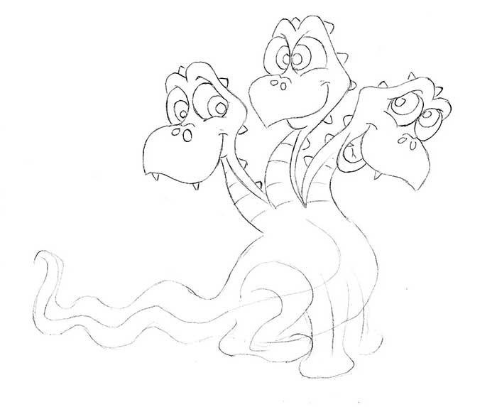Как рисовать драконов шаг за шагом, схема 1 - этап 4