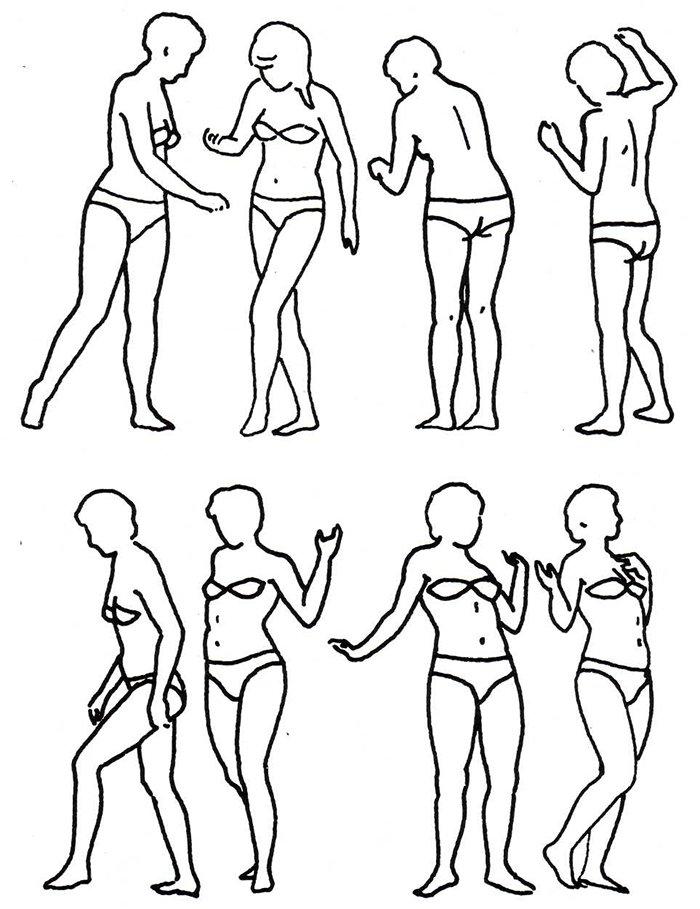 Как нарисовать женщину, схема 2