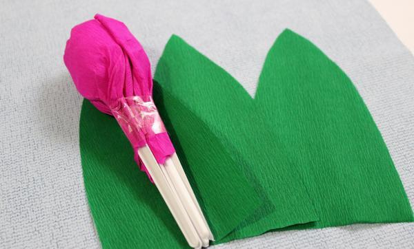 Как сделать тюльпаны из гофрированной бумаги – схема, фото 19