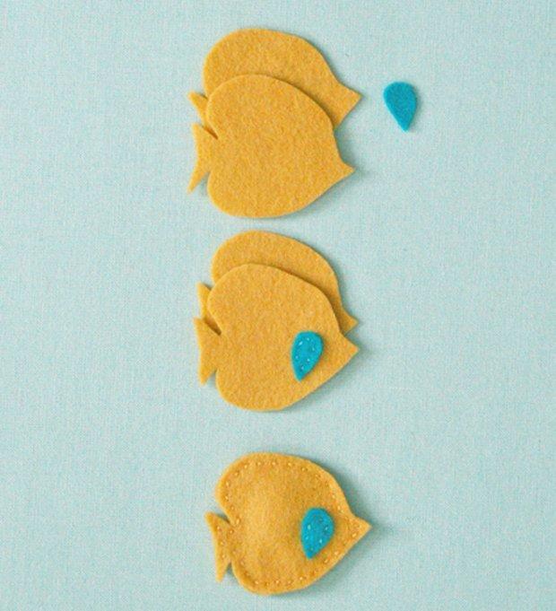 Детские поделки из фетра своими руками - рыбки из фетра, фото 7