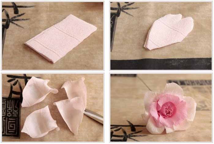 Троянди з гофрованого паперу своїми руками - фото 22