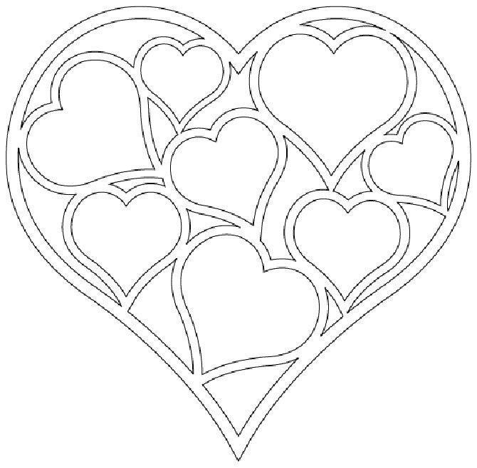 подвески в форме сердец.