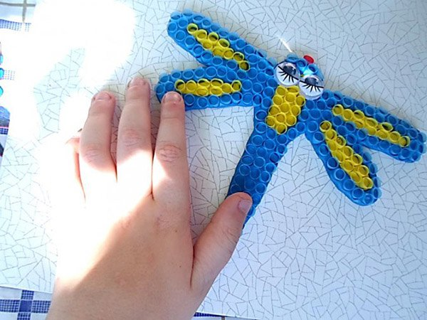 Летние поделки с детьми своими руками - мозаика из трубочек, фото 6