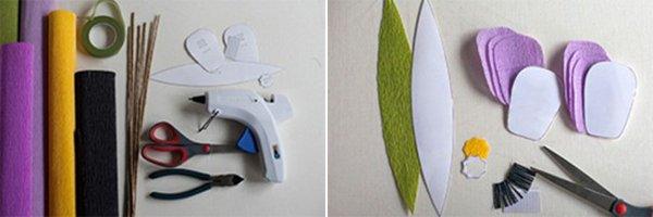 Как сделать тюльпаны из гофрированной бумаги – схема, фото 9