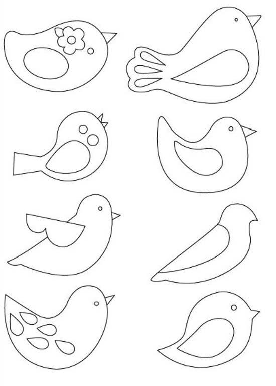 Пташки з фетру своїми руками - викрійки, фото 1