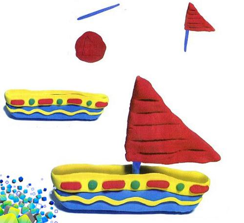 Кораблики из пластилина - мастер-класс, фото 2