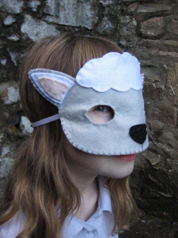 Маскарадные маски овечки из фетра своими руками, фото 5