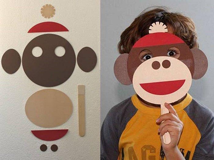 Маска мавпи з паперу своїми руками, фото 16