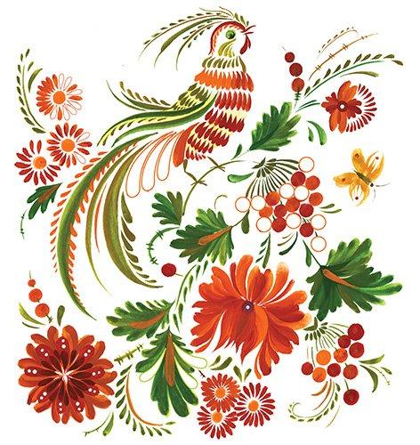 Как рисовать петриковскую роспись