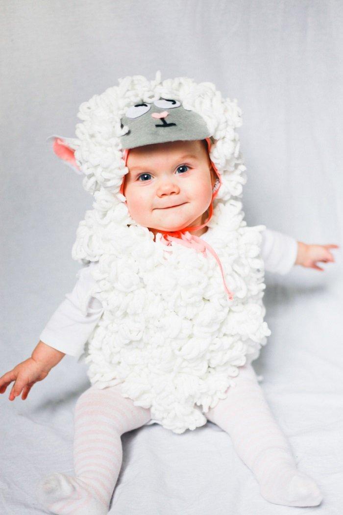 Костюм овечки для маленького ребенка