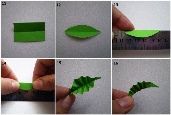 Как сделать объемные листья из бумаги