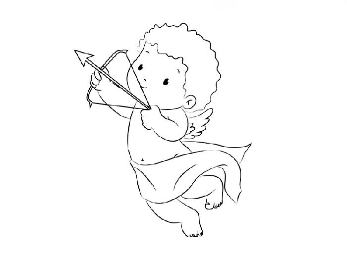 рисуем трогательного Купидона, схема 6
