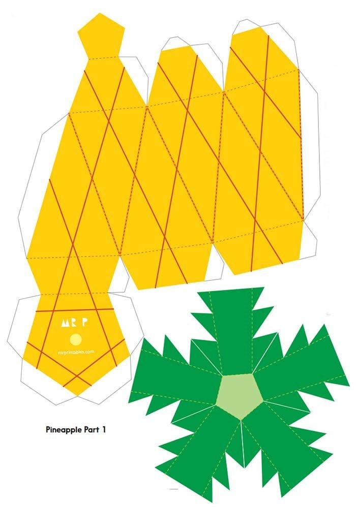 Объемные поделки из бумаги. Шаблоны фруктов для объемной аппликации, фото 2