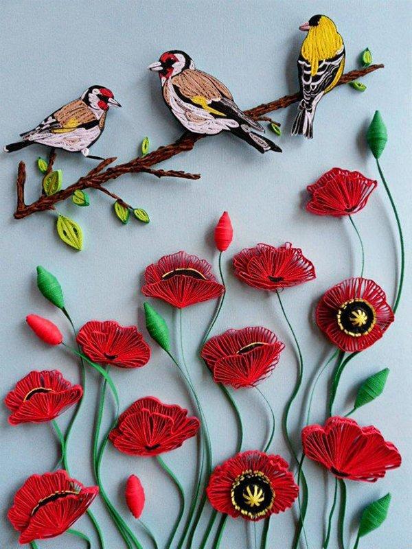 Квіти з квілінгу схеми
