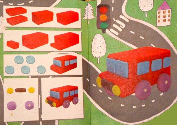 Фігурки з пластиліну - автобус, фото 2