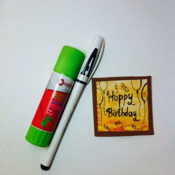 Скрапбукінг, майстер клас: листівка з днем народження своїми руками. Фото 10