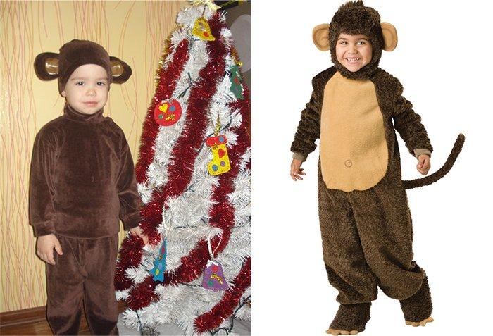 Костюм комбинезон обезьянки на Новый год