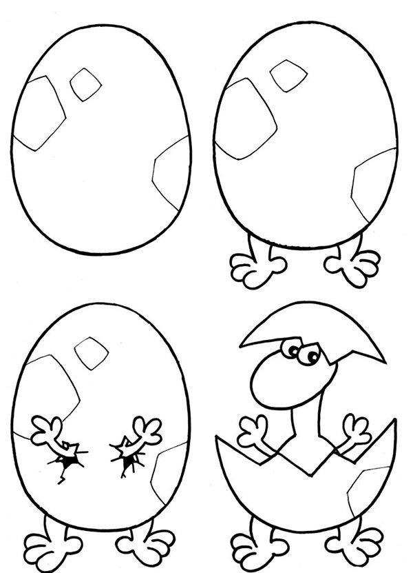Как рисовать драконов шаг за шагом, схема 3 - этап 1