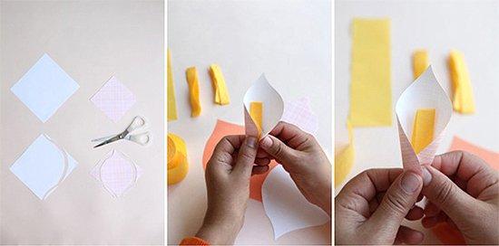 Бумажные цветы своими руками мастер класс - фото 2