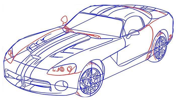 Мастер-класс по рисованию автомобиля