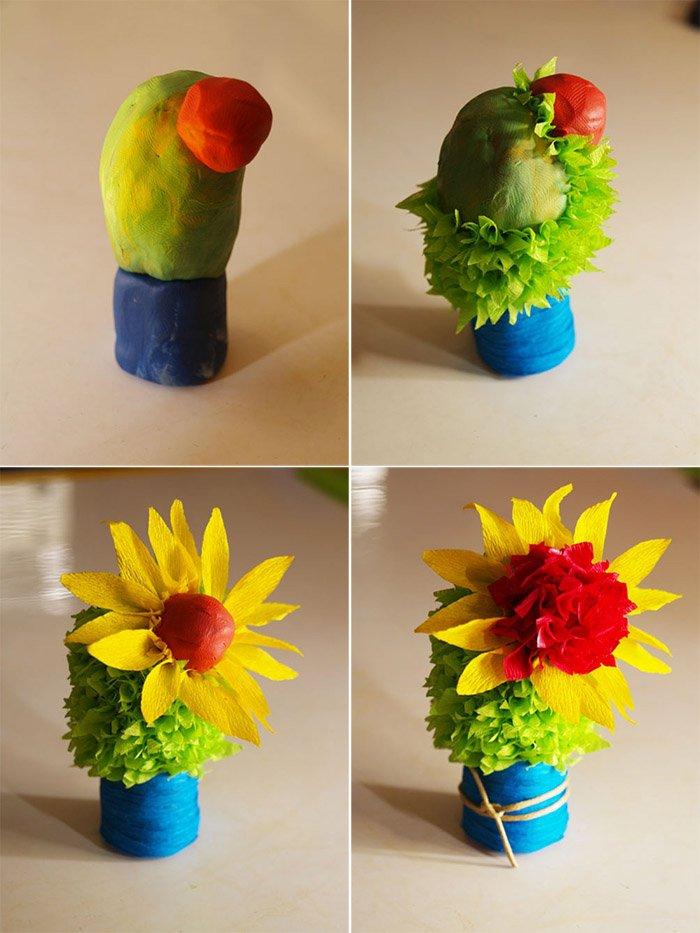 Лепим цветы из пластилина, фото 24