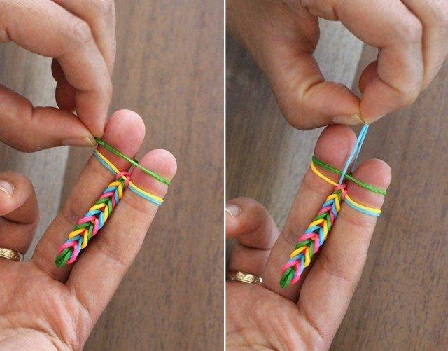 Плетіння резинками, браслети на пальцях. Інструкція - фото 7