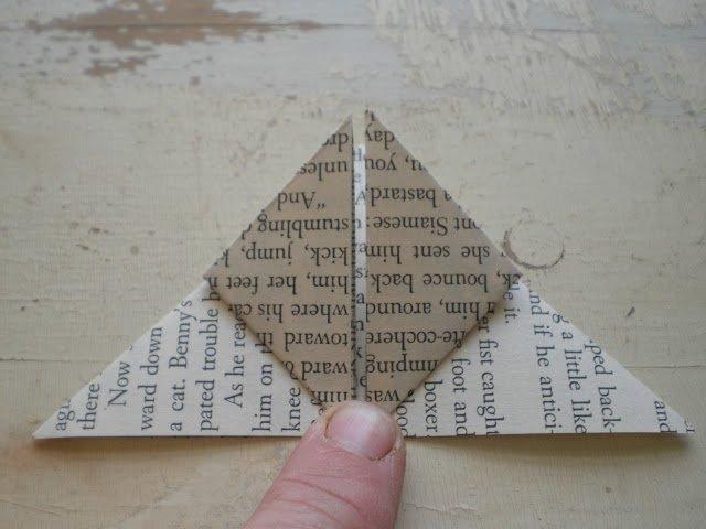 Орігамі метелик крок 8