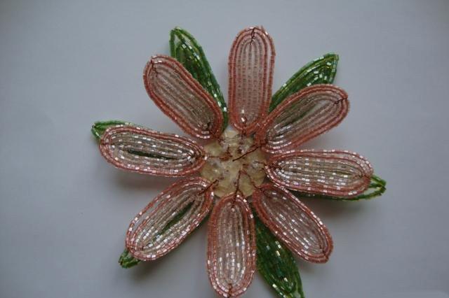 Лилии из бисера, схемы плетения - фото 7