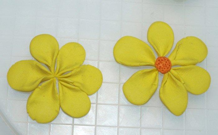 Лепим цветы из пластилина, фото 18