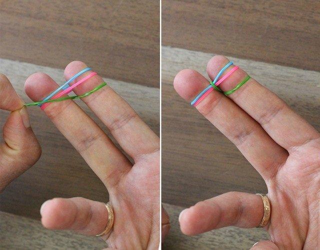 Плетіння резинками, браслети на пальцях. Інструкція - фото 2