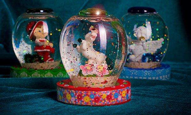 Снігова куля своїми руками. Дитячий майстер-клас: новорічна куля зі снігом з банки