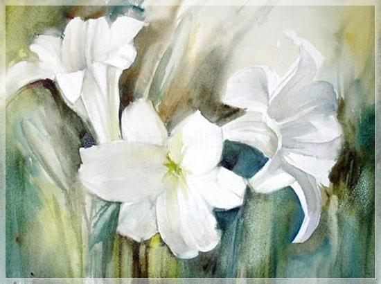Как рисовать лилию красками