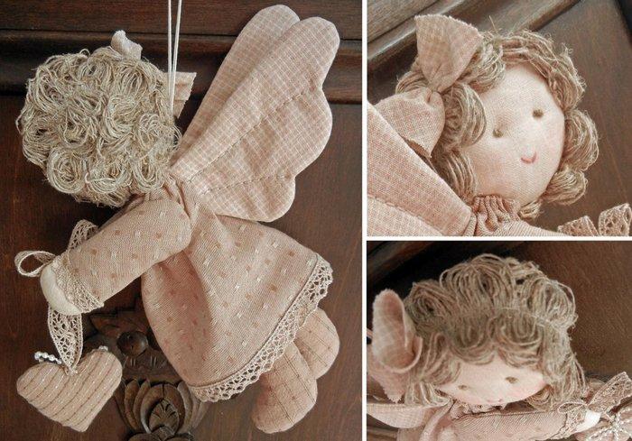 Ангел из ткани поделка