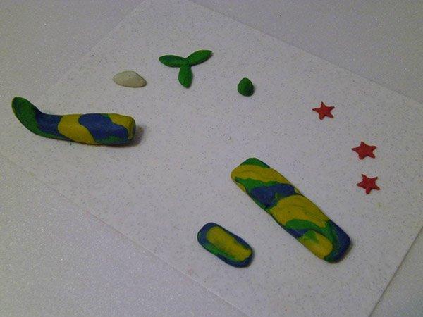 Фігурки з пластиліну - літак, фото 3