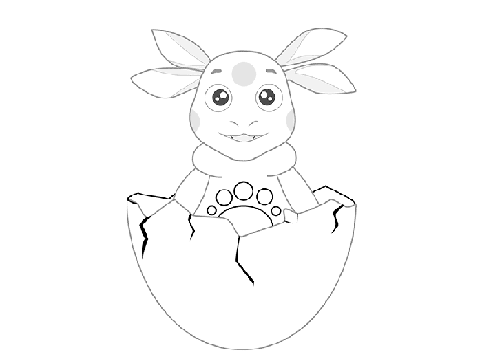 Як намалювати Лунтика, схема 2 - фото 5