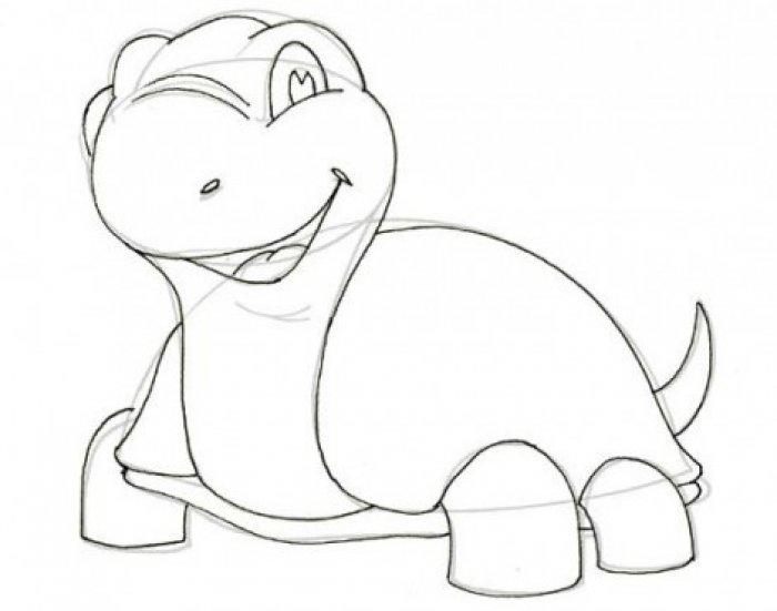 Как нарисовать черепаху карандашом поэтапно, фото 5